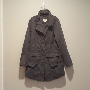 Charcoal gray rain utility jacket